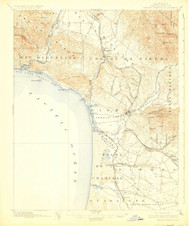 Arroyo Grande, California 1897 (1925) USGS Old Topo Map 15x15 Quad
