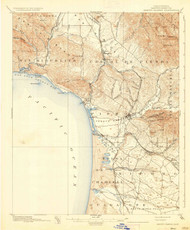 Arroyo Grande, California 1897 (1937) USGS Old Topo Map 15x15 Quad