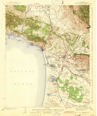 Arroyo Grande, California 1942 (1942) USGS Old Topo Map 15x15 Quad