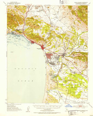 Arroyo Grande, California 1952 (1953) USGS Old Topo Map 15x15 Quad