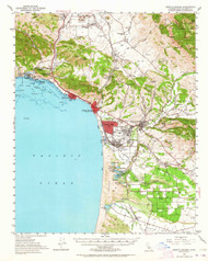Arroyo Grande, California 1952 (1964) USGS Old Topo Map 15x15 Quad