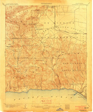 Calabasas, California 1903 (1903) USGS Old Topo Map 15x15 Quad
