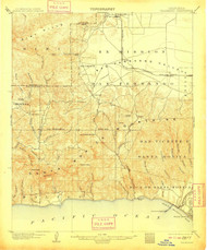 Calabasas, California 1903 (1908) USGS Old Topo Map 15x15 Quad