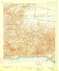 Calabasas, California 1903 (1924) USGS Old Topo Map 15x15 Quad
