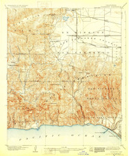 Calabasas, California 1903 (1929) USGS Old Topo Map 15x15 Quad