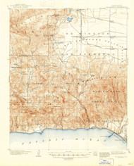 Calabasas, California 1903 (1947) USGS Old Topo Map 15x15 Quad