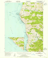 Cape Mendocino, California 1950 (1955) USGS Old Topo Map 15x15 Quad