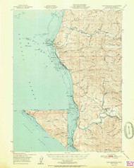 Cape Mendocino, California 1951 (1951a) USGS Old Topo Map 15x15 Quad