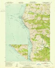 Cape Mendocino, California 1951 (1951b) USGS Old Topo Map 15x15 Quad