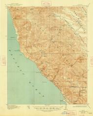Cape San Martin, California 1921 (1948) USGS Old Topo Map 15x15 Quad