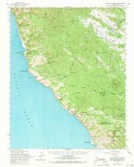Cape San Martin, California 1961 (1968) USGS Old Topo Map 15x15 Quad