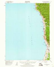 Cape Vizcaino, California 1950 (1960) USGS Old Topo Map 15x15 Quad