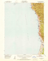 Cape Vizcaino, California 1951 (1951a) USGS Old Topo Map 15x15 Quad