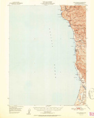 Cape Vizcaino, California 1951 (1951b) USGS Old Topo Map 15x15 Quad