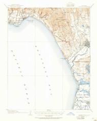Capitola, California 1912 (1955) USGS Old Topo Map 15x15 Quad