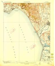 Capitola, California 1914 (1914) USGS Old Topo Map 15x15 Quad