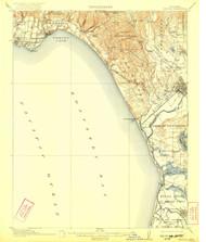 Capitola, California 1914 (1922) USGS Old Topo Map 15x15 Quad