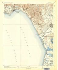 Capitola, California 1914 (1932) USGS Old Topo Map 15x15 Quad