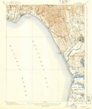 Capitola, California 1914 (1940) USGS Old Topo Map 15x15 Quad