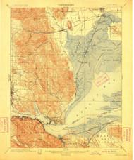 Carquinez, California 1901 (1911) USGS Old Topo Map 15x15 Quad