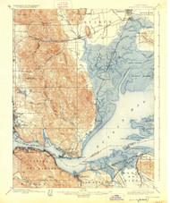 Carquinez, California 1901 (1926) USGS Old Topo Map 15x15 Quad
