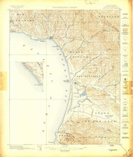 Cayucos, California 1897 (1897) USGS Old Topo Map 15x15 Quad