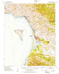 Cayucos, California 1951 (1953) USGS Old Topo Map 15x15 Quad