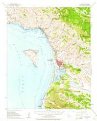 Cayucos, California 1951 (1961) USGS Old Topo Map 15x15 Quad