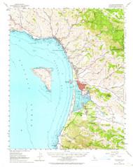 Cayucos, California 1951 (1964) USGS Old Topo Map 15x15 Quad