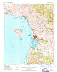 Cayucos, California 1951 (1971) USGS Old Topo Map 15x15 Quad