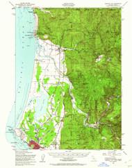 Crescent City, California 1952 (1962) USGS Old Topo Map 15x15 Quad