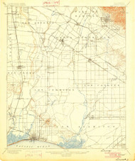 Downey, California 1902 (1902) USGS Old Topo Map 15x15 Quad