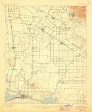 Downey, California 1902 (1906) USGS Old Topo Map 15x15 Quad