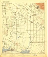 Downey, California 1902 (1916) USGS Old Topo Map 15x15 Quad