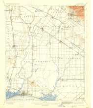 Downey, California 1902 (1926) USGS Old Topo Map 15x15 Quad