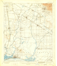 Downey, California 1902 (1929) USGS Old Topo Map 15x15 Quad