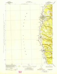 Fort Bragg, California 1943 (1943) USGS Old Topo Map 15x15 Quad