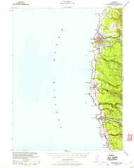 Fort Bragg, California 1943 (1960) USGS Old Topo Map 15x15 Quad