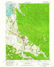 Fortuna, California 1959 (1961) USGS Old Topo Map 15x15 Quad