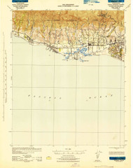 Goleta, California 1942 (1943) USGS Old Topo Map 15x15 Quad