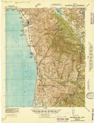Halfmoon Bay, California 1940 (1941) USGS Old Topo Map 15x15 Quad