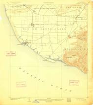 Hueneme, California 1904 (1911) USGS Old Topo Map 15x15 Quad