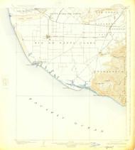 Hueneme, California 1904 (1925) USGS Old Topo Map 15x15 Quad