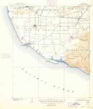 Hueneme, California 1904 (1947) USGS Old Topo Map 15x15 Quad