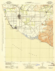 Hueneme, California 1943 (1943) USGS Old Topo Map 15x15 Quad