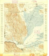 Karquines, California 1898 (1898) USGS Old Topo Map 15x15 Quad