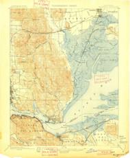 Karquines, California 1901 (1901) USGS Old Topo Map 15x15 Quad