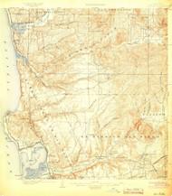 La Jolla, California 1903 (1903) USGS Old Topo Map 15x15 Quad