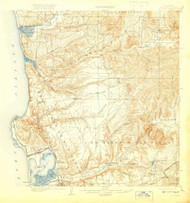 La Jolla, California 1903 (1920) USGS Old Topo Map 15x15 Quad