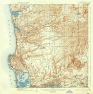La Jolla, California 1903 (1934) USGS Old Topo Map 15x15 Quad